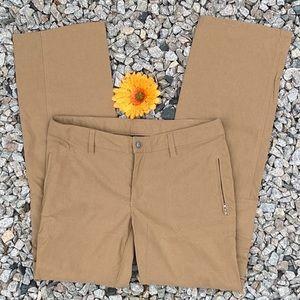 Athleta khaki hiking cargo pants